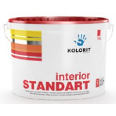 Водно-дисперсионная краска Kolorit Interior STANDART, 10 л