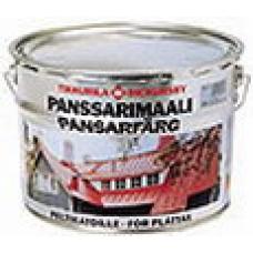 Полуглянцевая алкидная краска Tikkurila Panssarimaali для крыш, 9 л