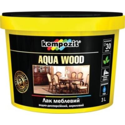 Лак мебельный Kompozit AQUA WOOD (3 л)
