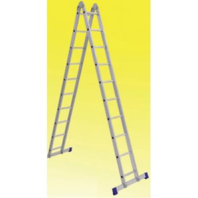 Лестница алюминиевая двухсекционная шарнирная (2.3м)