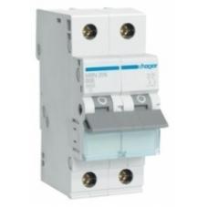 Автоматический выключатель HAGER In=16 А, 2п, С, 6 kA, 2м