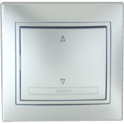 Выключатель промежуточный Lezard металик серый