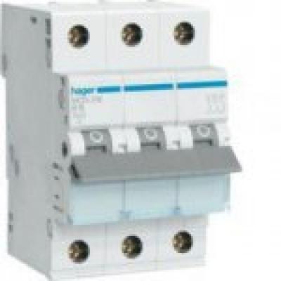 Автоматический выключатель HAGER In=63 А, 3п, С, 6 kA, 3м