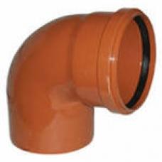 Колено канализационное 160 мм 90° наружное