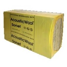 Акустическая минеральная вата AcousticWool Sonet P (100*600*1000мм 2,4м2/уп), 80 кг/м3