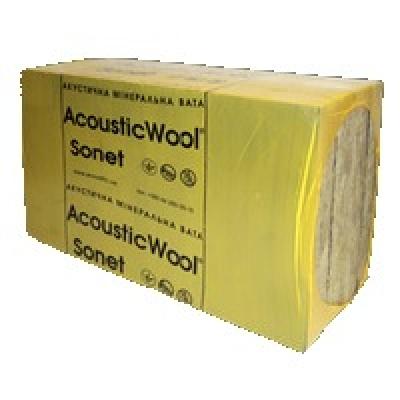 Акустическая минеральная вата AcousticWool Sonet P (50*600*1000 мм, 4,2 м.кв/уп), 80 кг/м3
