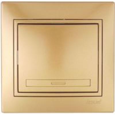 Выключатель  Lezard Одинарный металлик золото