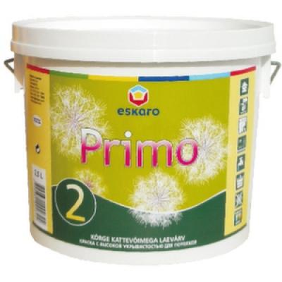 Краска Eskaro Primo 2 для потолка 9 л