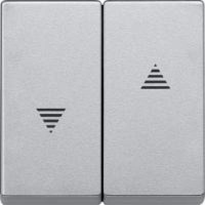 Клавиша выключателя для жалюзи алюминий матовый (шт.)