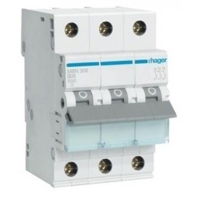 Автоматический выключатель HAGER In=32 А, 3п, С, 6 kA, 3м