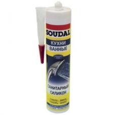 Герметик силиконовый санитарный Soudal белый 300 мл