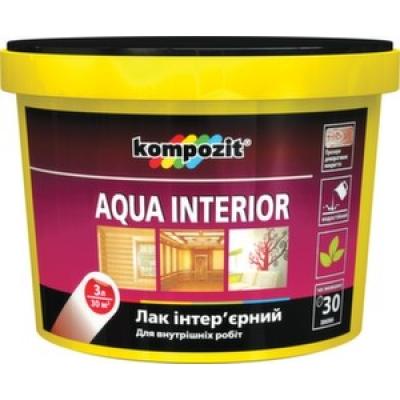 Лак Kompozit AQUA INTERIOR глянцевый (3 л)