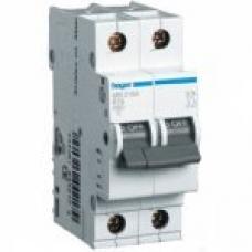 Автоматический выключатель HAGER In=63 А, 2п, С, 6 kA, 2м