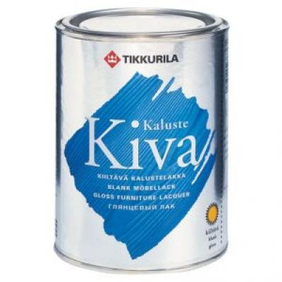 Колеруемый водоразбавляемый акрилатный лак Tikkurila KIVA, 2.7 л