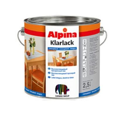 Лак Alpina Klarlack Glanzend 2.5 л глянцевый