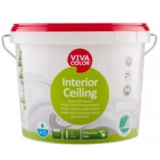 Глубоко матовая не отражающая краска для потолков Interior Ceiling (2,7 л)