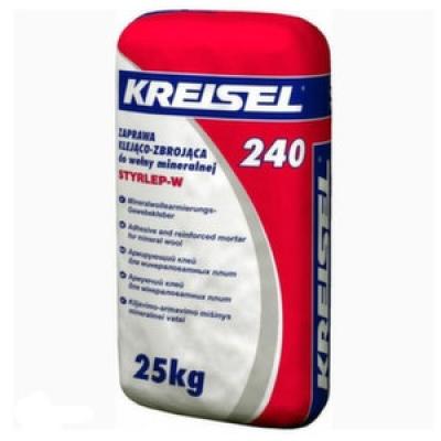 Клей для минеральной ваты Kreisel 240 армирующий  25 кг