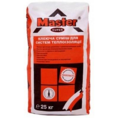 Клей для пенопласта армированный Мастер Супер (Master Super)  (25 кг)