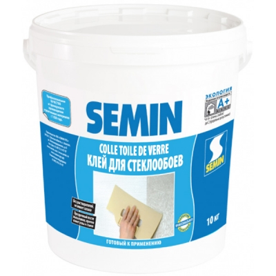 Клей Semin «Colle TDV» влагостойкий для стеклохолста и стеклообоев, 10 кг