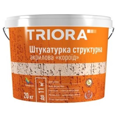 Штукатурка структурная акриловая TRIORA Короед (20 кг)