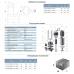 Насос канализационный 1.5кВт Hmax 19.5м Qmax 350л/мин с ножом (нерж) AQUATICA