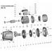 Насос центробежный самовсасывающий 1.1кВт Hmax 55м Qmax 90л/мин LEO